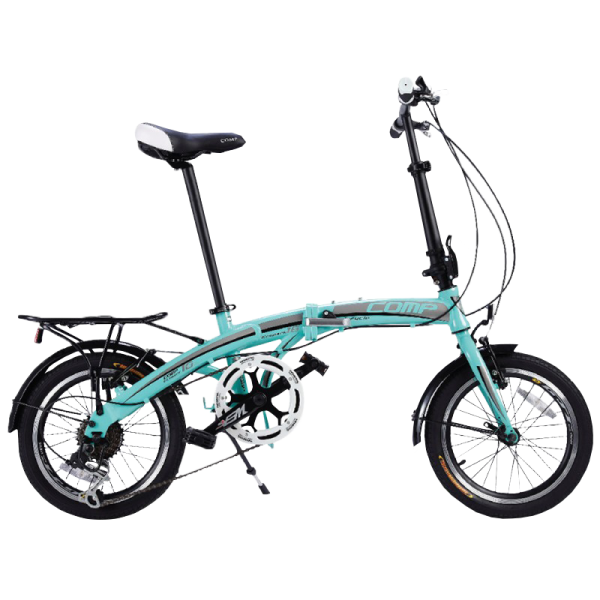 COMP 1607 Eco-Park Folding Bike (Celeste Blue)