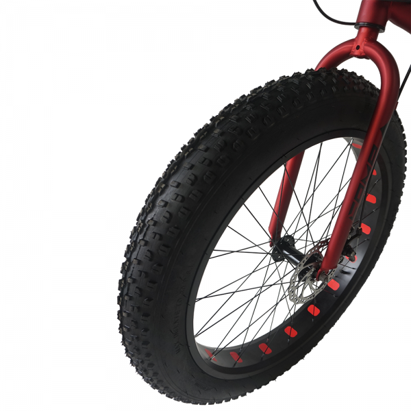 "26"" Gratitude Fat Bike - 16 Spds (Matt Black+Blue)"