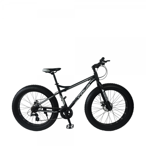 "26"" Gratitude Fat Bike - 16 Spds (Matt Black+White)"