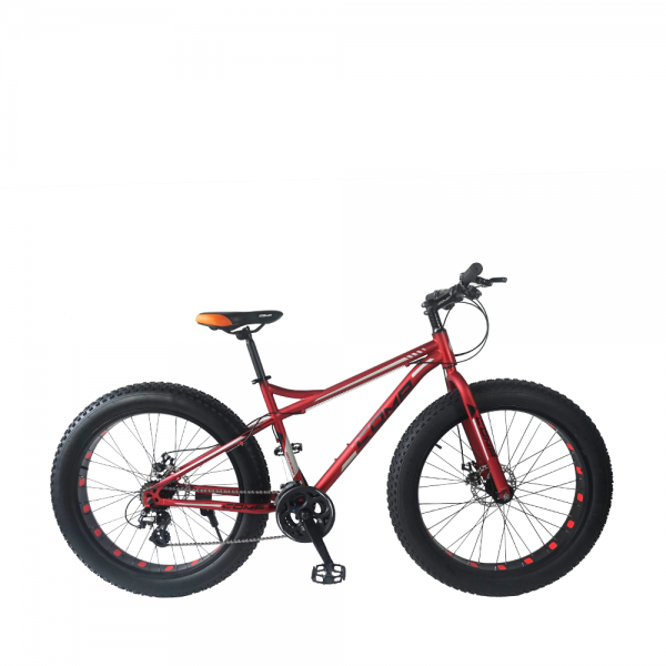 "26"" Gratitude Fat Bike - 16 Spds (Matt Red+Black)"