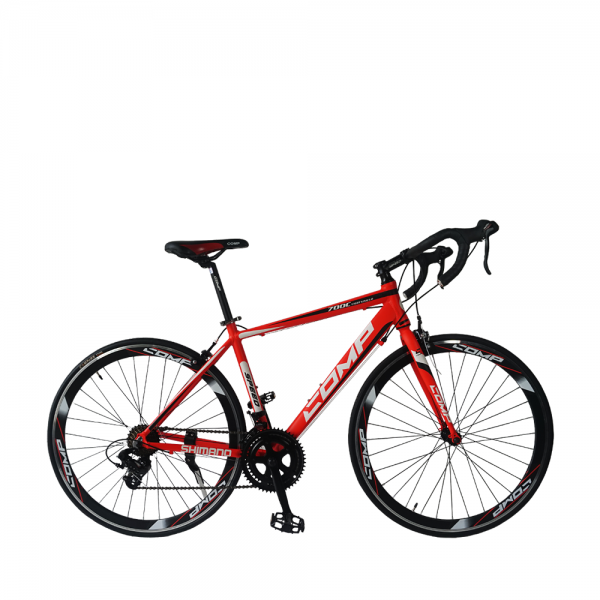 COMP 700C Lightning Road Bike (Red+White)