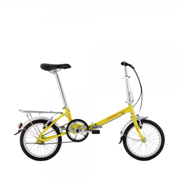 "Oyama 16"" Folding Bike - Yellow"